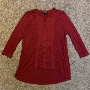 Red LUCKY BRAND long sleeve blouse 🔥